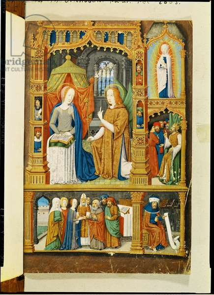 Ms 74/1088 The Annunciation, from the 'Heures de Marguerite de Coetivy' (vellum)