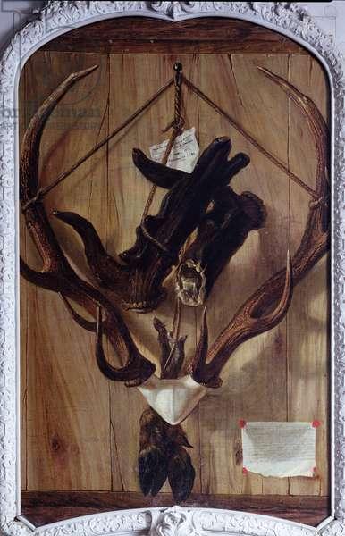 Trompe l'Oeil (oil on canvas)