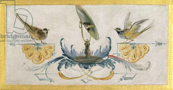 Mirror and two birds, from 'La Grande Singerie', c.1735 (mural)