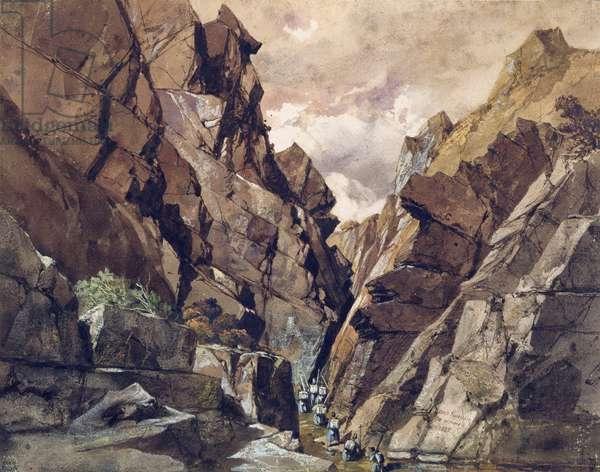The Portes de Fer Passage II, 1839 (w/c on paper)