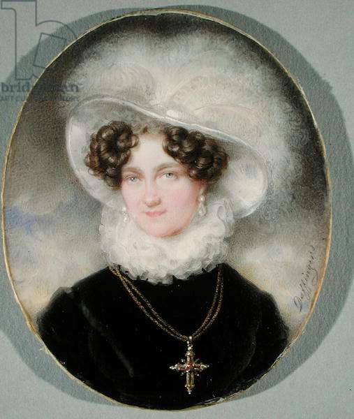 Carolina Augusta of Bavaria (1792-1873) (w/c on ivory)