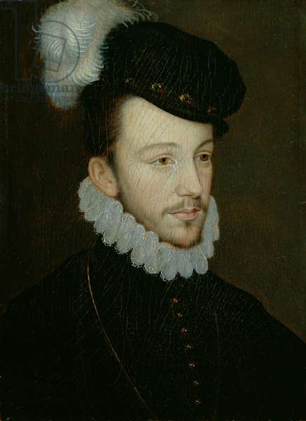 Portrait of Henri III (1551-89), King of France, before his accession, c.1570 (oil on panel)