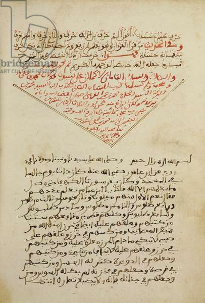 "Ms. 214/1165, Abou Zeid Abderrahman Ben Ahmed Essabbagh ""Treaty of mandatory religious precepts."", 1660 (ink on paper)"