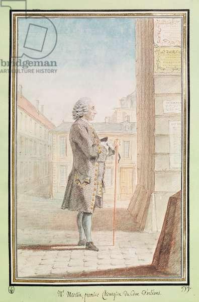 Jean Noel de Saint-Martin, surgeon to Louis Philippe d'Orleans, 1759 (pencil, w/c & gouache on paper)