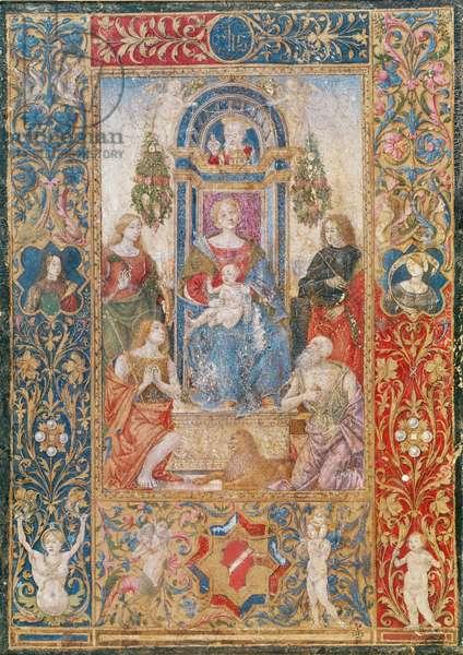 Virgin and Child with Saints (vellum)