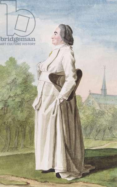 L'Abbe de Villers Cotterets, c.1766 (pencil, w/c & gouache on paper)