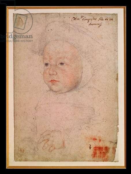 Charles de France (1523-45), 1524 (pencil on paper)