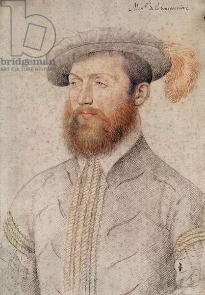 Jean du Plessis, seigneur de la Bourgoniere, c.1546 (pencil on paper)