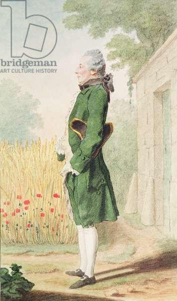 Jacques Auguste Poilloue, Monsieur le Chevalier de Saint-Marc, servant to the duke of Orleans, c.1764 (pencil, w/c & gouache on paper)