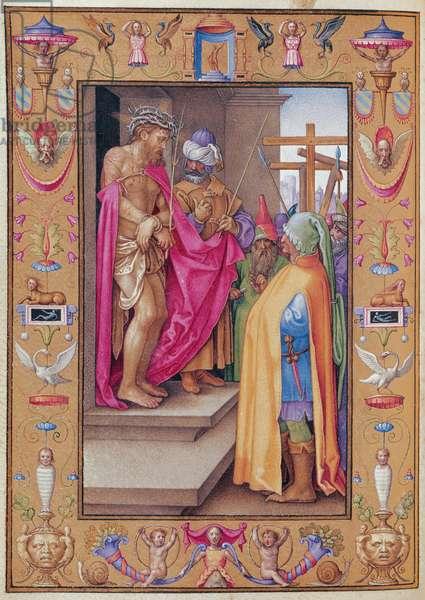 Ms 39/1601 Ecce Homo, from 'Passio Domini Nostri Jesu Christi Secundum Joannem' (vellum)