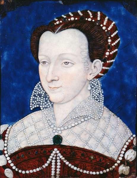 Catherine de Lorraine (1551-96) Duchess of Montpensier (painted enamel)