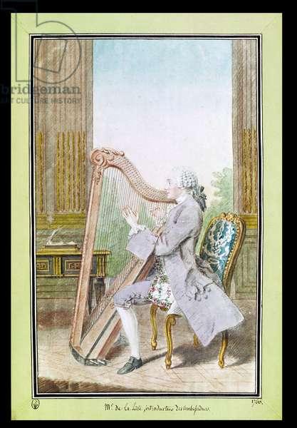 Monsieur de La Live, 1760 (w/c on paper)