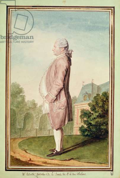 Monsieur Valentin, chief taster to the Duke of Orleans, 1770-75 (pencil, w/c, gouache & red chalk on paper)