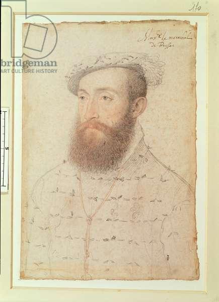Charles I de Cosse (1505-73) Count of Brissac, c.1550 (pencil on paper)
