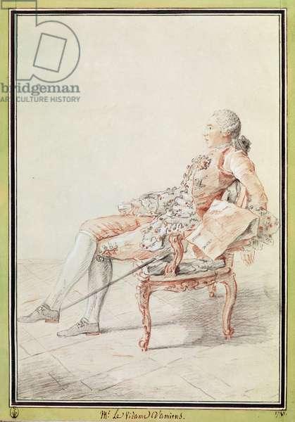 Marie-Joseph-Louis d'Albert d'Ailly, Vidame d'Amiens (1741-93) (pencil, w/c & red chalk on paper)