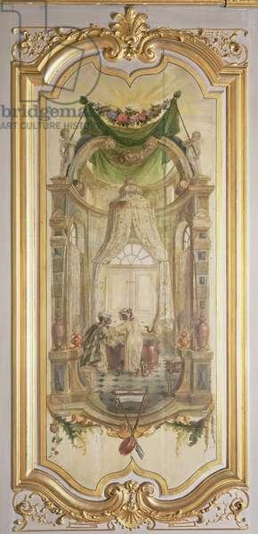 The Bath, from 'La Petite Singerie' (painted panel)