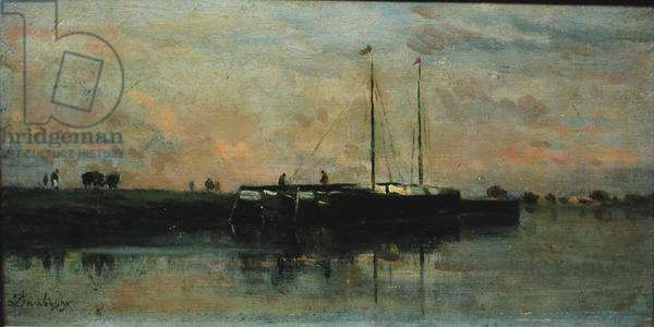 Barges at Bezons (oil on canvas)