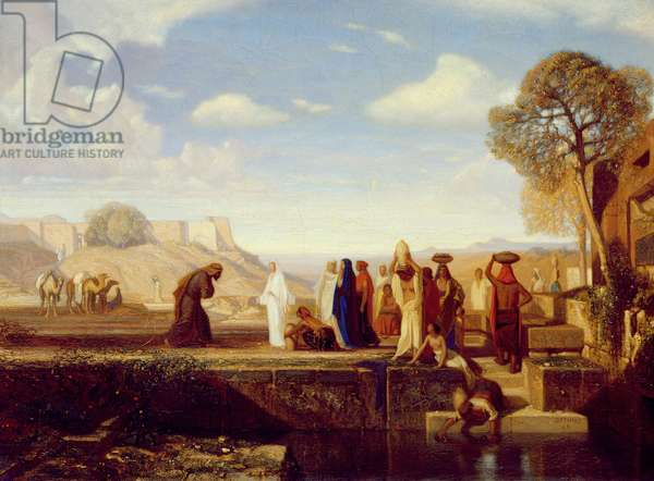 Rebecca at the Well, 1848 (oil on canvas)