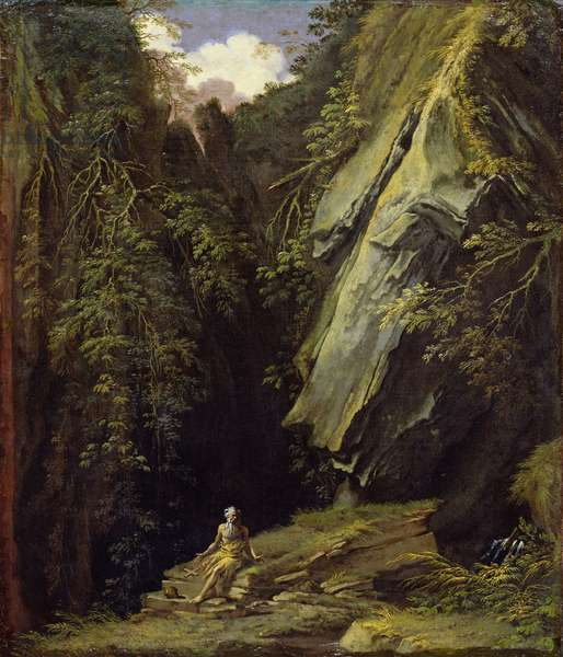 Landscape with St. Jerome, c.1662-73 (oil on canvas)