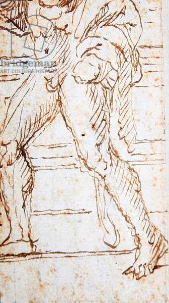 Hercules (pen & ink on paper) (verso of 423429)