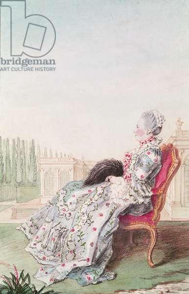 Madame Collet, 1760 (pencil, w/c & gouache on paper)