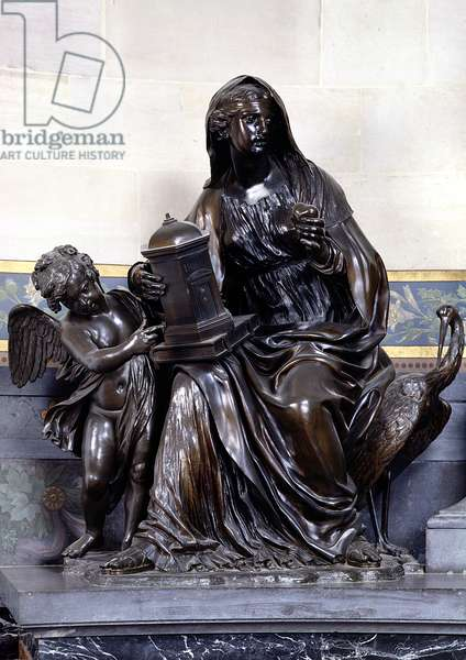 Religion, detail from the Mausoleum of Henri II (1588-1646) in the Chapel of the Petit Chateau, after 1650 (bronze)