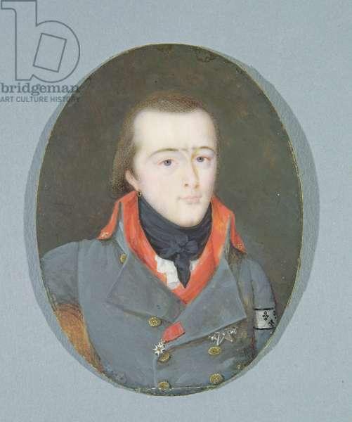 Louis Antoine Henri de Bourbon (1772-1804) Duke of Enghien Wearing the Conde Uniform (oil on panel)