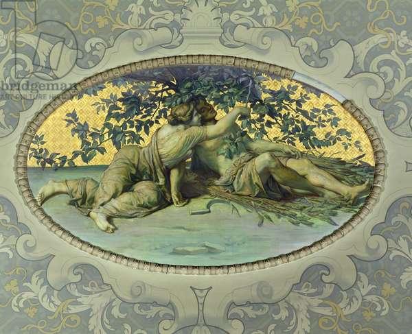 Summer, from the Galerie de Peinture, 1859 (mural)