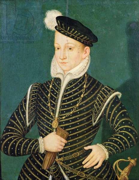 Portrait of Charles IX (1550-74) 1565-72 (oil on panel)