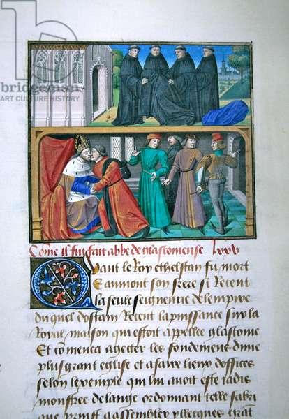 Ms 722/1196 fol.131v, page from Le Miroir Historial by Vincent de Beauvais (vellum)