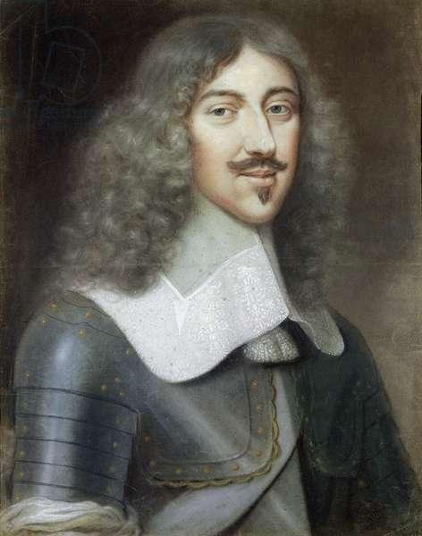 Portrait of Gaston de France (1608-60) Duc d'Orleans, c.1650 (pastel on paper)