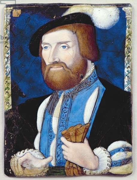 Louis de Bourbon (1513-82) Duke of Montpensier (painted enamel)