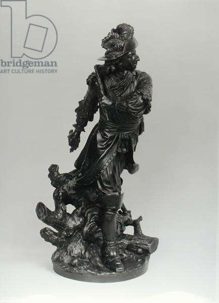 Louis II de Bourbon (1621-86) 4th Prince of Conde at Fribourg in 1644, 1780 (bronze) (b/w photo)