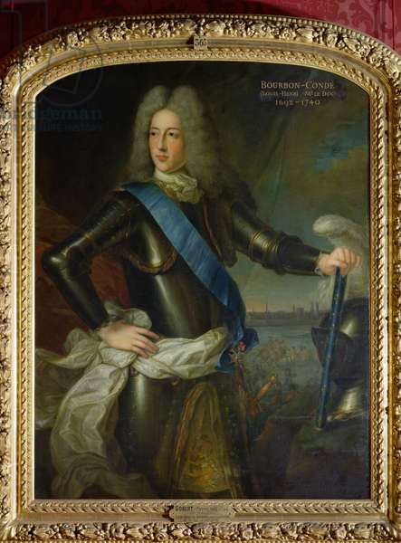 Portrait of Louis-Henri de Bourbon (1692-1740) Prince of Conde (oil on canvas)