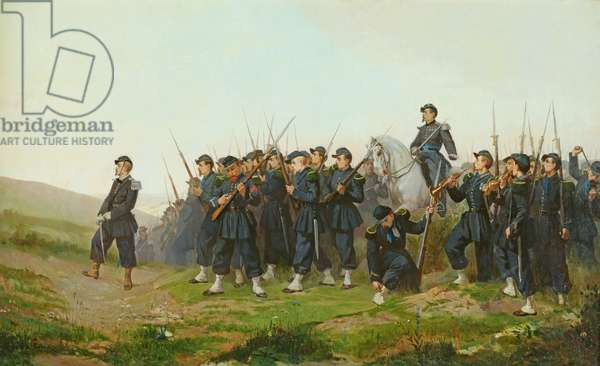 The Morning Before the Attack (oil on canvas)