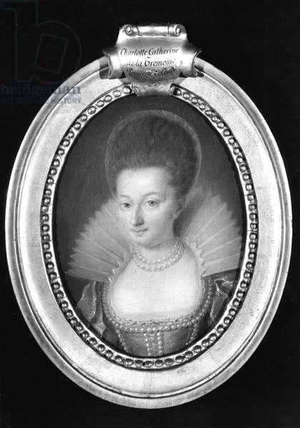 Charlotte-Catherine de la Tremoille (1568-1629) Princess of Conde (oil on canvas)
