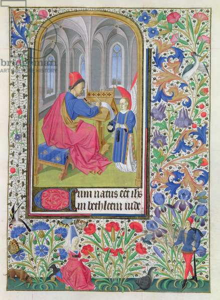 Ms 76/1362 St. Matthew, from the Hours of the Duchess of Burgundy, c.1450 (vellum)