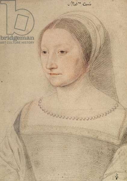 Perrone de Pisseleu (c.1505-after 55), femme de Michel de Barbancon, sire de Cany, c.1530 (pencil on paper)