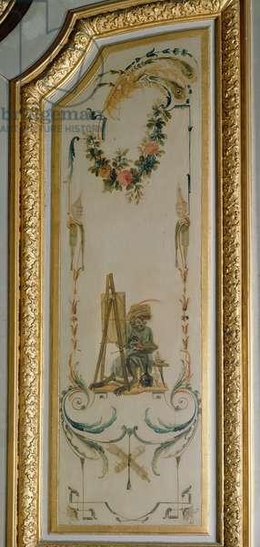 The Monkey Painter, from 'La Grande Singerie', c.1735 (mural)