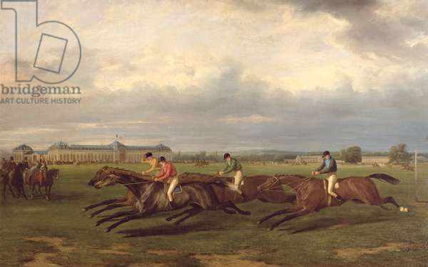 Racing at Chantilly (oil on canvas)