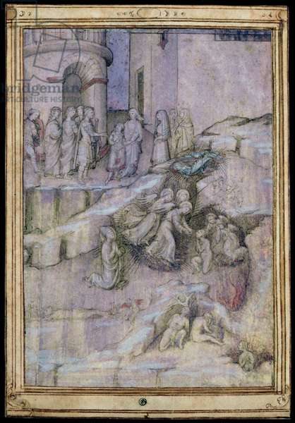 Scenes from the Legend of Trajan (53-117) c.1440-50 (pen & ink, gouache and w/c on parchment)