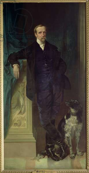Duke of Aumale (1822-97) at Twickenham, 1853 (oil on canvas)