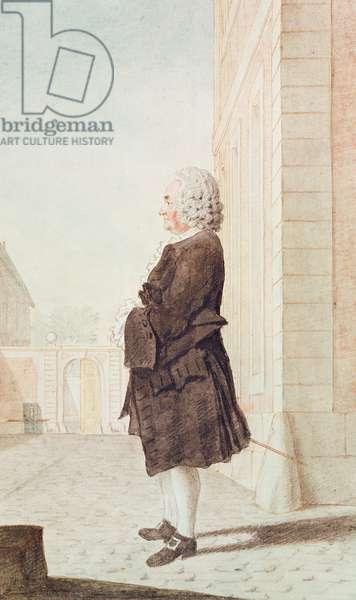 Monsieur de Pidensat, Butler to the Duke of Orleans, 1769 (pencil, w/c & gouache on paper)