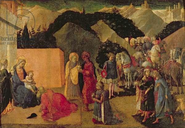 Adoration of the Magi (tempera on panel)