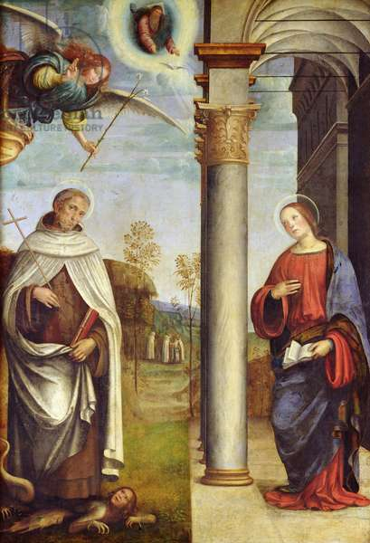The Annunciation with St. Albert the Carmelite, c.1503-04 (oil on canvas)