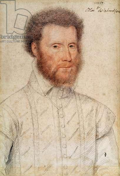Jean Babou (1511-69) Seigneur de La Bourdaisiere, 1553 (pencil on paper)