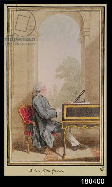 Seated Portrait of Egidio Duni (1709-75) c.1760 (w/c on paper)