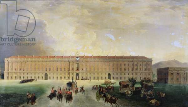 View of the Palazzo Reale, Caserta, 1833 (oil on canvas)