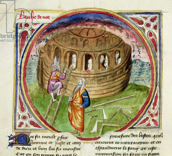 Ms, 28/1378 fol.7v Noah's Ark, from the Book of the Apocalypse (vellum)
