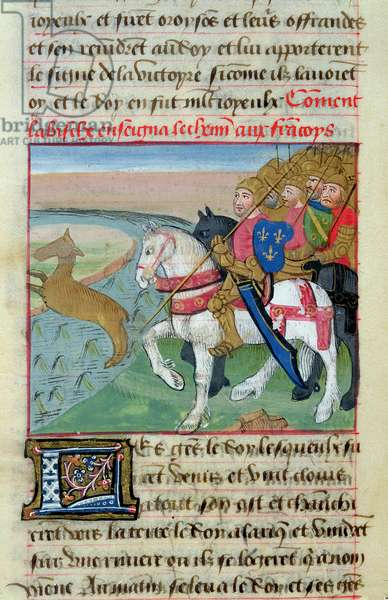 Ms 869/522 fol.18v How the Doe led the Way for the Franks, 1217-37 (vellum)